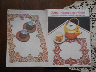 1985年 チェコ語刺繍本 predkreslene vysivanie