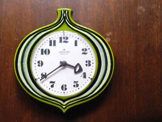 ドイツ JUNGHANS オニオン型の陶器時計