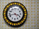 ドイツ Schatz 太陽のような陶器時計
