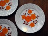 ドイツ Schirnding Bavaria オレンジの花プレート