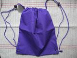 ドイツ Herlitz 現行品の巾着リュック(紫×水玉)
