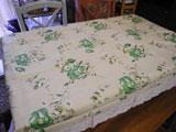 カントリー風の花柄ビニール製テーブルクロス 120×150cm