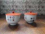 RC ノリタケ 陶製フタ付き湯飲み茶碗2点セット