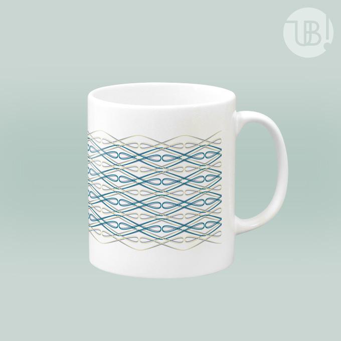 幾何学模様のマグカップ