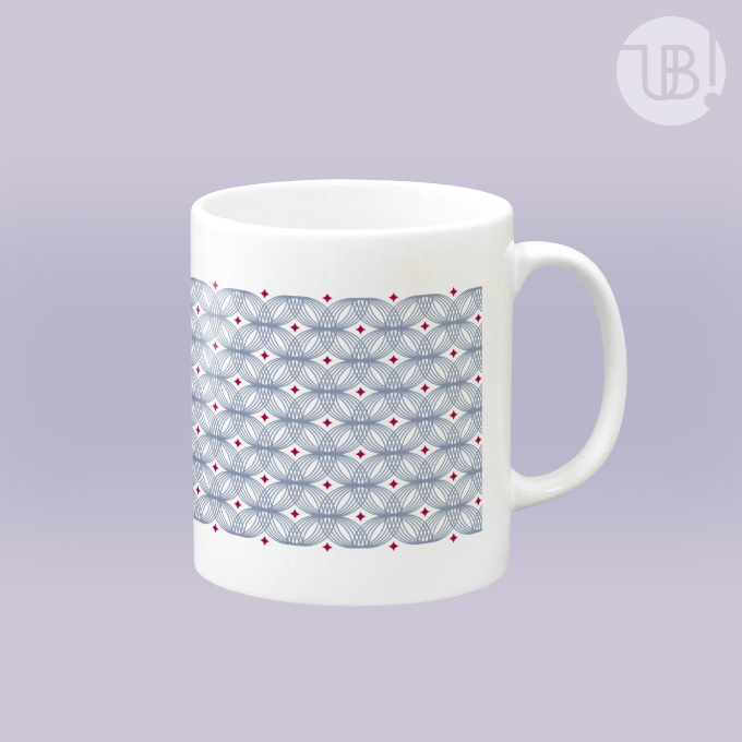 シンプルな丸パターンのマグカップ