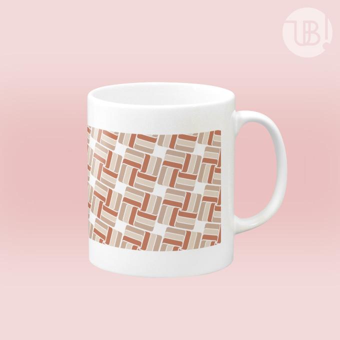 幾何学×タイル柄のマグカップ