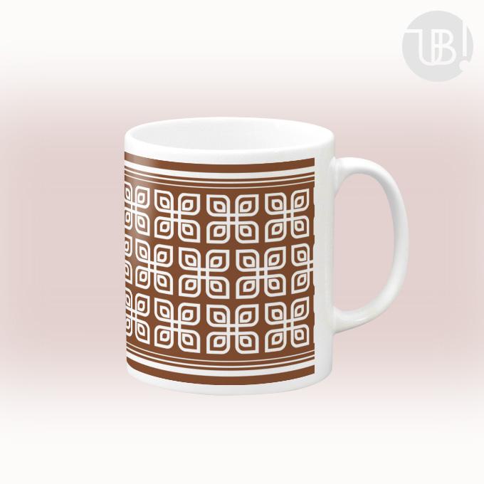 レトロ柄のマグカップ