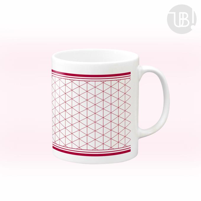超シンプル三角パターンのマグカップ