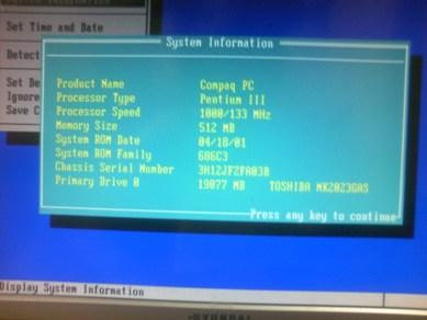 CompaqのPresario 3TO340