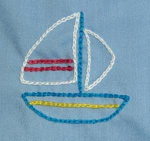 幼稚園スモッグ 刺繍