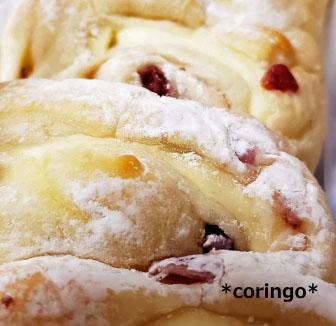 ラズベリーとクリームチーズのパン