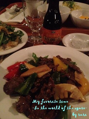 中華で紹興酒