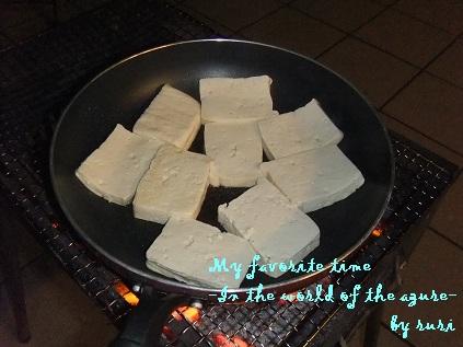 石嶺豆腐のステーキ