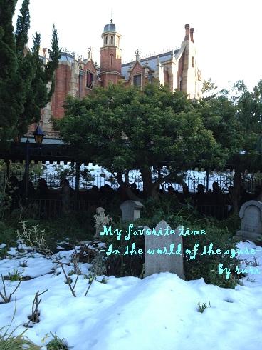 雪のホーンテッドマンション