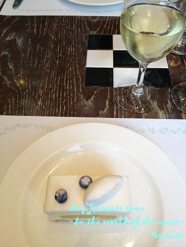 レアチーズ&白ワイン