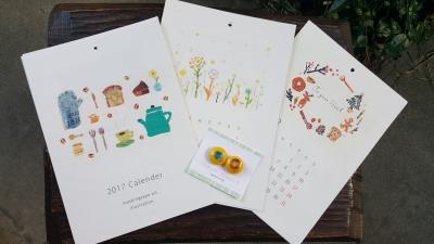 BonBonマスキングテープアートの田村美紀さんのカレンダーとマグネット