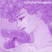 アジサイ婦人(部分)Purple version