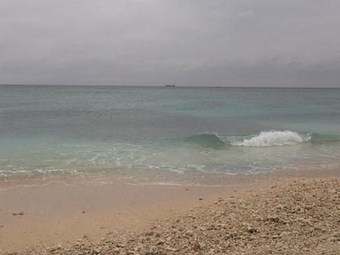 3日目の朝の海