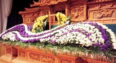 フラワー祭壇 お供え ご葬儀 家族葬 生花祭壇 いわき市 小名浜の花屋 花国湘南台店