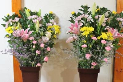 切花 法事 家族葬 生花祭壇 いわき市 小名浜の花屋 花国湘南台店