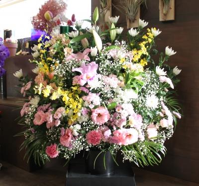 法事 家族葬 生花祭壇 いわき市 小名浜の花屋 花国湘南台店