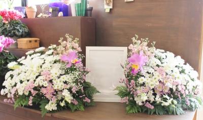 家族葬 生花祭壇 いわき市 小名浜の花屋 花国湘南台店