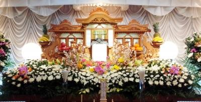 フラワー祭壇 生花祭壇 いわき市 お花の花屋 花国湘南台店