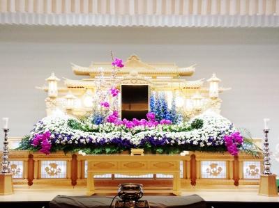 生花祭壇、いわき市、 小名浜、 葬儀、 花国
