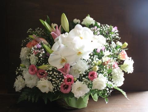 家族葬、自宅葬、葬儀、お花、いわき市、小名浜の花屋、花国、湘南台店