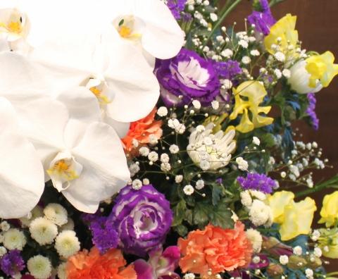 お供え、葬儀、いわき市、小名浜の花屋、花国、湘南台店