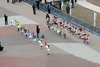 地元の保育園児の鼓笛隊