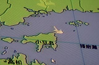 GPSによる本船の現在位置