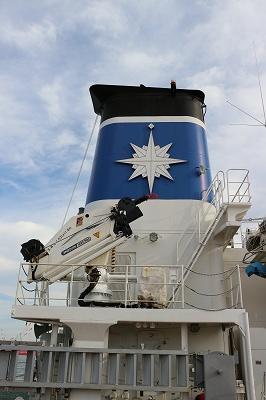 「巡視船とさ」のファンネル付近。