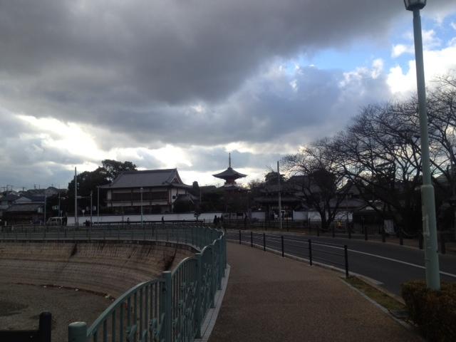 久米田池の正月
