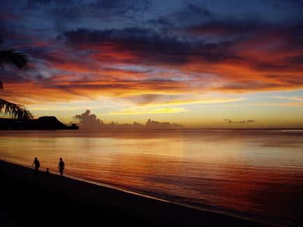 グアム島の夕焼け