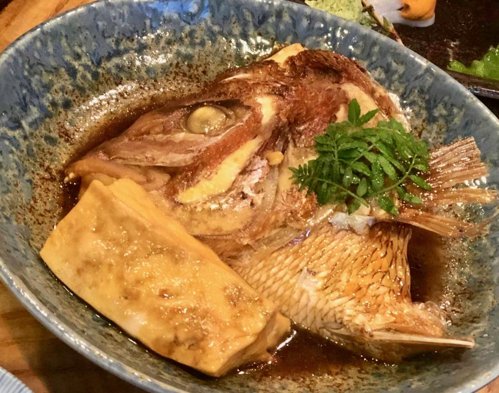 お食事酒処うえ河の鯛あら炊き