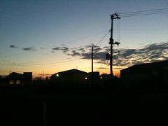 北上の朝です。