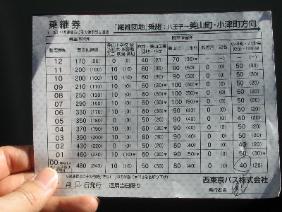 表 バス 西 東京 時刻