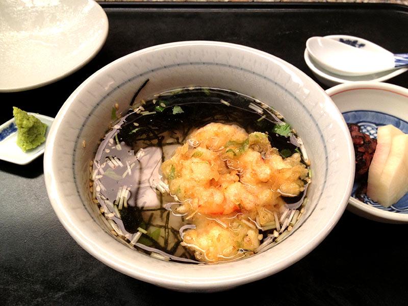 天ぷら茶漬け