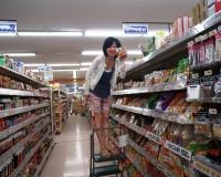 スーパーにて。