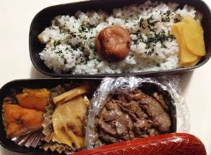牛肉の生姜煮と筍とかぼちゃの煮物