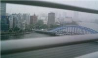 雨の永代橋