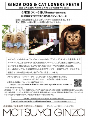 GINZA DOG & CAT LOVERS FESTA