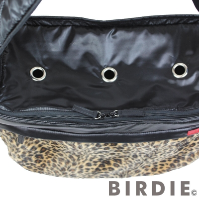 【BIRDIEキャリーバッグ】レオパードワンショルダーキャリー内部