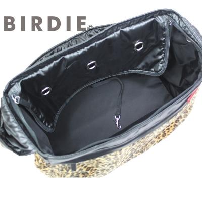 【BIRDIEキャリーバッグ】レオパードワンショルダーキャリー内部アップ