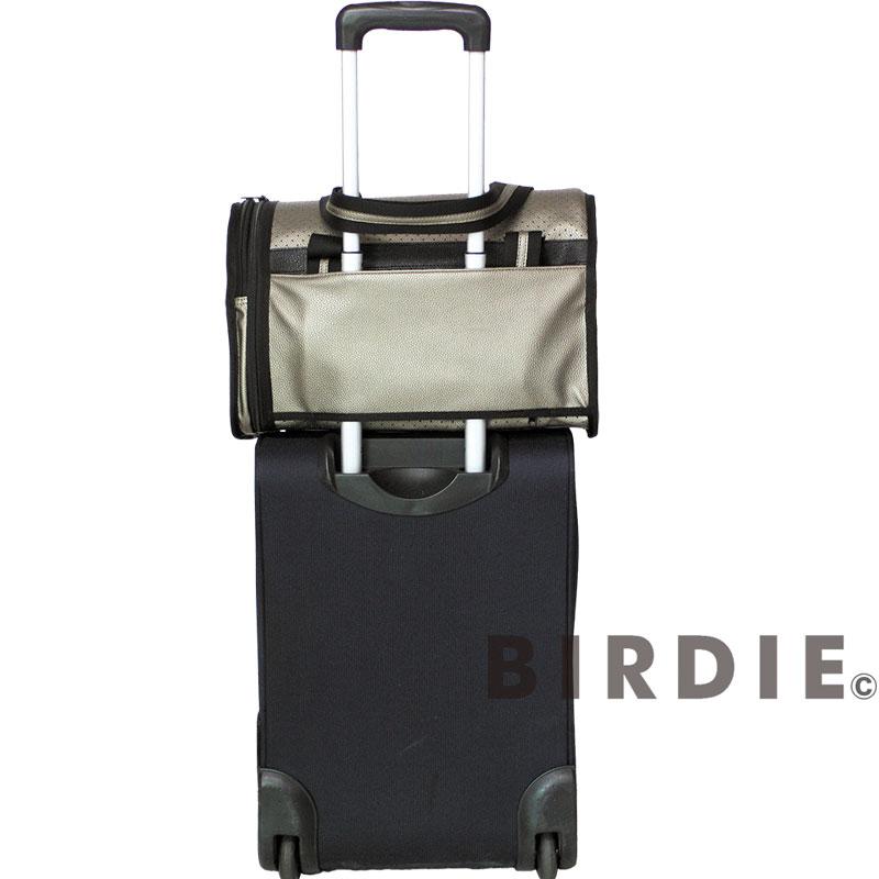 【BIRDIEドーム型キャリーバッグ】パンチング トラベルキャリー