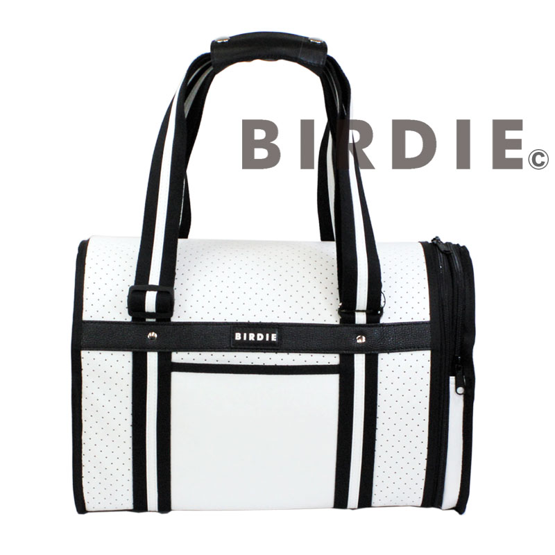 【BIRDIEドーム型キャリーバッグ】パンチングトラベルキャリーホワイト