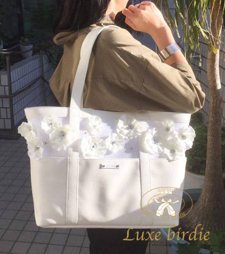 Luxebirdieエルダーフラワーキャリーバッグホワイト
