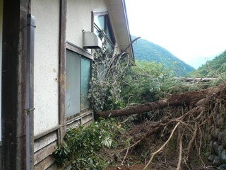 台風15号関連土砂災害(芦川グリーンロッジ)
