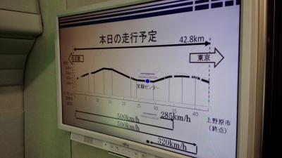 リニア実験走行立会い(車両)